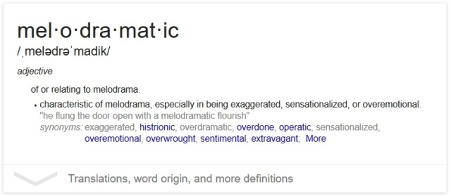 melodramaticdefined