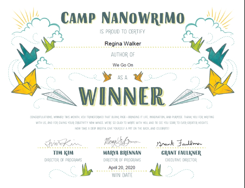We Go On Camp NaNo WIN