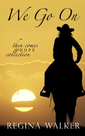 Silhouette of a woman on a horse looking at a sunset.